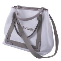 China Composite Foldable Travel Tote Bags For Women Hollow Out Pattern Canvas Lining wholesale