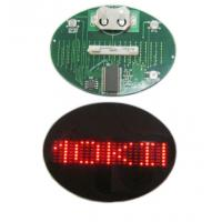 Buy cheap Flashing LED name badge display panel red and blue from wholesalers
