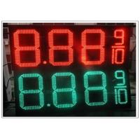 China 20'' Red / green color LED Gas Station Sign for Fuel advertising Petrol , 8000nits Brightness wholesale