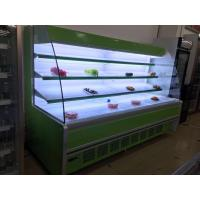 Quality Remote System Two Meter Long Vegetable Display Fridge Green / Black / White Color for sale