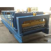 Steel IBR Roofing Wall Roof Tile Making Machine Hydraulic Cutting Type