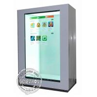 China 15 inch Landscape and Portrait Transparent LCD Showcase, USB Update Transparent Digital Signage with HDMI input wholesale