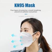 China High BFE / PFE KN95 Face Mask  4 Ply Anti Haze High Filtration Capacity wholesale
