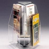 China Rotating A4 Brochure Acrylic Display Holder Stands Countertop Custom wholesale