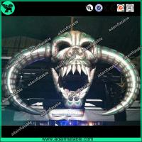 China 8m Halloween Event Decoration Inflatable Skull/Stage Decoration Inflatable Skeleton Head wholesale