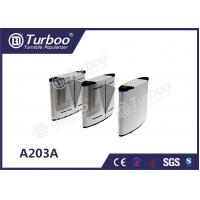 China Acrylic Access Control Turnstile Gate , Flap Barrier Gate With Biometric Card Reader wholesale