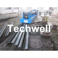 China Automatic C & Z Purlin Roll Forming Machine Interchangeable with 17 Main Rollers wholesale