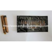China Zipper Resealable Cigar Packaging Bag 7 Colors Printing With Humidification System wholesale