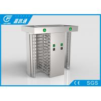 China Outdoor Gym  Bi - Direction Full Height Turnstile Double Channel Rainproof Housing wholesale