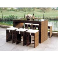 China 2014 popular rattan bar table and chair set wholesale