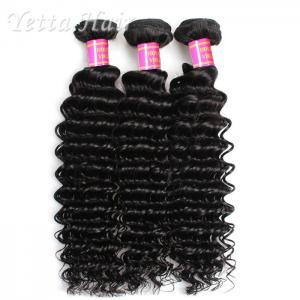 China Deep Wave Cambodian Grade Peruvian Virgin Hair  Natural Black  No Terrible Smell wholesale