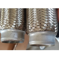 China Auto Engine Stainless Steel Exhaust Parts 51 X 150mm Flexible Exhaust Pipe wholesale
