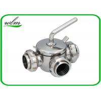 China 10 Bar Hygienic Valves Straight Way Three Way Plug Valve With Rapid Assembly wholesale