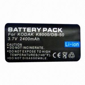 China Digital Camera Battery with 2,400mAh Capacity, 3.7V Voltage, Type Li-ion wholesale