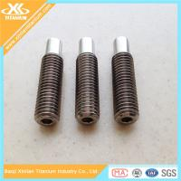 Quality High Quality M6 Gr5 Titanium Hex Socket Set Screws With Dog Point for sale