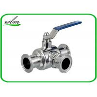 China SS304 316L Stainless Steel Sanitary Manual Three Way Ball Valves for Hygienic Pipeline Applications wholesale