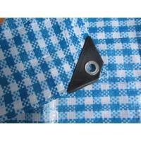 China 150g check tarpaulin,woven fabric package material wholesale