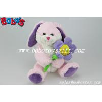 China Pink Bunny Stuffed Animal With Sun Flower As Valentine gifts wholesale