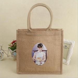 China customized printing heavy-duty jute gift bags medium capacity promotional jute bags on sale