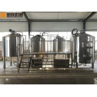 Quality 2000 Liter Beer Brewing System , Stainless Steel Beer Making System PLC Avaiable for sale