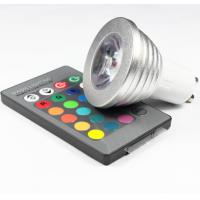 China 3W RGB LED COB Spotlights bulbs RGB led remote controller lathe aluminum housing GU10 E27 wholesale