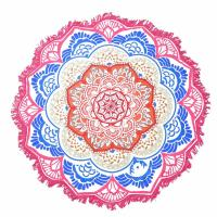 China Indian Mandala Beach Towel Large Lotus Printing Towel Beach Round Pool Home Shower Towel Blanket 150Cm wholesale