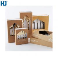 China Brown Tableware Cardboard Packing Boxes Customized Folding With Big Window Hanger wholesale