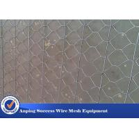 China Multi Function Rock Baskets Wire Mesh , Rock Gabion Baskets Silver Green Color wholesale
