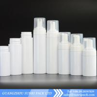 China 80ml 100ml 120ml 150ml 180ml 200ml soap foam pump white bottle for cleanser wholesale