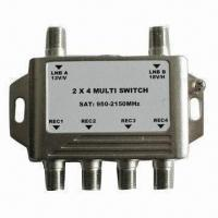 China 2-way CATV Switch with Nickel Plating, Available in Various Frequencies wholesale