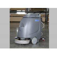 China Hand Push 17 Inch Single Brush Compact Floor Scrubber Machine For Slick Floor wholesale