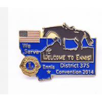 China American States Soft Enamel Lapel Pins Size Customized For Collectible wholesale