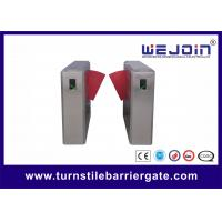 China 900mm Width Electronic Flap Barrier Gate / Pedestrian Automatic Systems Turnstiles wholesale