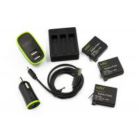 China GoPro Batteries Set with 3 Channel Charger for GoPro HERO4 Silver / Black wholesale