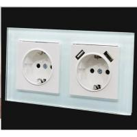 China LIGHT GREEN COLOR GLASS WALL SWITCH wholesale