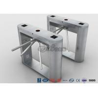 China Fingerprint Reader Tripod Turnstile Gate , Full 304 Stainless Steel Turnstile Pedestrian Security Gates wholesale