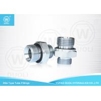 China British Metric Pipe Thread Fittings Bite Type , Hydraulic Tube Fittings With ED Rin on sale