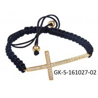 China Elegant designs and excellent finishing 925 sterling silver jewellery , cz cross bracelet wholesale