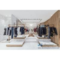 China Fashion Brand clothing store Design Stainless steel display racks with Shelves and Reception Leisure Furniture couch wholesale