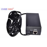 China Black POE Power Adapter 10 / 100Mbps IEEE 802.3af Compliant Compact Size wholesale
