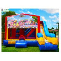 China 7 In 1 Kids Shopkin Inflatable Bounce Houses With Basketball Hoop N Obstacles Inside wholesale
