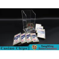 China Plastic Casino Game Accessories For Wide Cards , Playing Card Dealer Shoe  wholesale