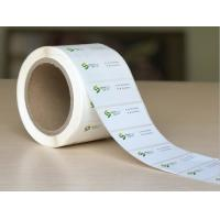 China OEM Color Logo Glossy Sticker Labels Waterproof With Sheet / Roll Shape wholesale