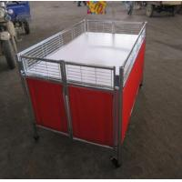 Buy cheap Movable Supermarket Accessories Promotion Table Stand With Wheels For Retail Store product