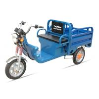 China 580W 48V / 32Ah Adult Electric Tricycles Blue Electric Cargo Tricycle Easily Loading wholesale