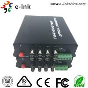 China 8 Channel AHD CVI TVI Over Fiber Optic Media Converter 20km Transmission Distance wholesale