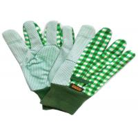 China Gardening Working Cotton Drill Gloves Beautiful Patterns With Knit Wrist wholesale