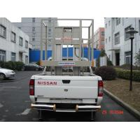 China Double Mast Truck - Mounted Aerial Lift , Aluminium Work Platform For 2 Persons wholesale