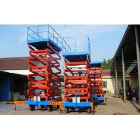 China Movable Four Wheels Hydraulic Lift Platform , Aerial Platform Lift Diesel Engine Powered wholesale
