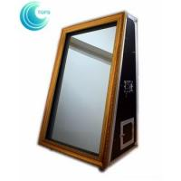 Quality Entertainment 55 inch selfie portable magic mirror photo booth with flight case for sale